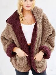 fur sweater reversible faux fur hooded coat mynystyle