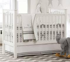 Gray And White Chevron Crib Bedding Organic Chevron Crib Fitted Sheet Pottery Barn