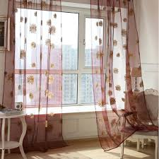 Drapes For Living Room by Online Get Cheap Sunflower Curtains Valances Aliexpress Com