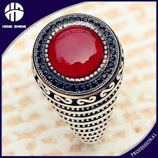 men rings stone images Red aqeeq stone agate mens rings 925 sterling silver indian rings jpg