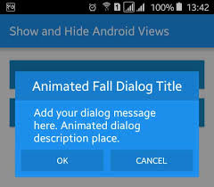 dialog android android animated alert dialog box exle viral android
