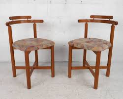 Set Of Teak Dining Table Set Of Mid Century Modern Style Danish Teak Dining Chairs By