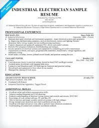 sample resume electrician maintenance electrician resume template