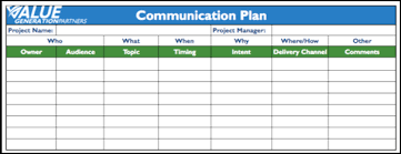 generating value with a communication plan u2013 value generation