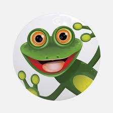 frog ornament cafepress