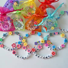 jewelry party favors kids personalized luau party favors flower bracelets
