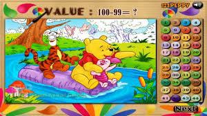 disney winnie pooh tigger u0026 piglet color math coloring game
