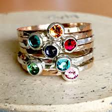 birthstone rings delicate birthstone ring hip jewelry