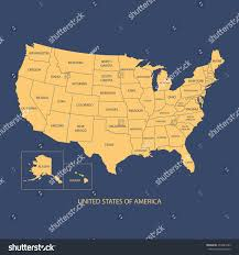 America Map With Names by Usa Map Name Countriesunited States America Stock Vector 273483233