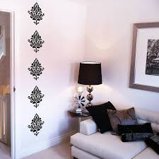damask wall stickers by nutmeg notonthehighstreet com damask wall stickers