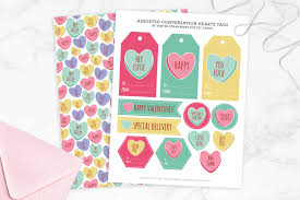 valentines day candy hearts conversation heart tags and gift wrap diycandy