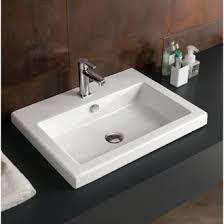 self rimming u0026 drop in bathroom sinks thebathoutlet com