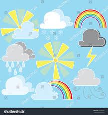 weather clip art set includes 9 stock vector 221385304 shutterstock