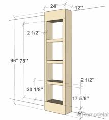 How To Build In Bookshelves - free plans for built in bookshelves bookshelf height between