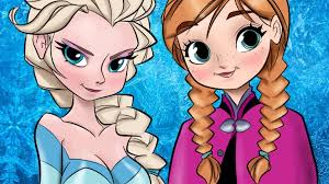 frozen elsa u0026 anna speed drawing coloring cartoon
