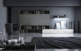 living room gray sofa white table lamps black coffee table gray