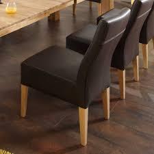 Esszimmerst Le Echt Leder Schwarz Gepolsterte Stühle Salsass In Braun Für Ihr Esszimmer