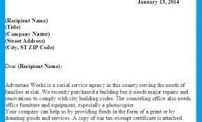 letter asking for donations writing professional letters sample