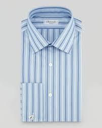 brioni contrast collar striped dress shirt magenta white neiman