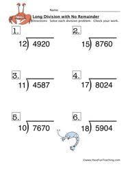 spring math freebie ladybug themed long division