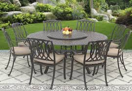 san marcos cast aluminum outdoor patio 9pc set 8 dining chairs 71
