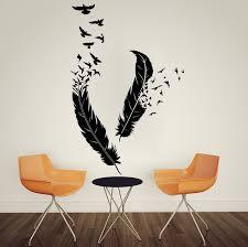 Birds Home Decor Wall Designs Bird Wall Abstract Feathers Flying Birds
