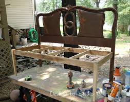 Build A Headboard by Make A Bench Out Of A Headboard And Footboard 150 Cute Interior