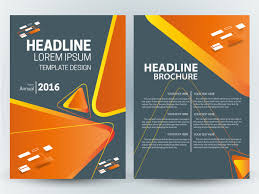 brochure template design with modern style with triangles free