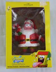 spongebob squarepants santas list ornament details can