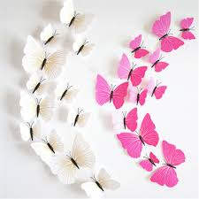 online get cheap angel wall decals aliexpress com alibaba group 12pcs los angeles pvc diy butterfly wall stickers home decor poster kitchen bathroom fridge binding