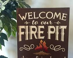 Fire Pit Signs by Campfire Signs Etsy
