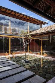 house courtyard modern rustic loma house in ecuador by iván andrés quizhpe