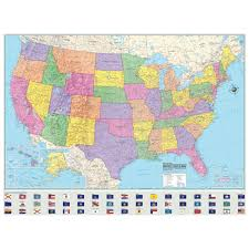 map usa la usa designer edition laminated wall map 48x36in american map corp