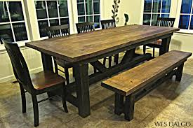 custom dining room table kitchen narrow farm table rustic farmhouse dining table large