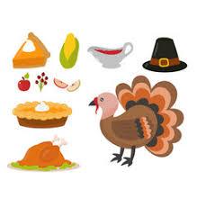 thanksgiving symbols royalty free vector image