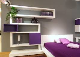 unique white painted square shape modern wall shelves as book