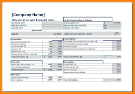 9 balance sheet template excel cover title page