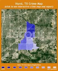 hurst map hurst crime rates and statistics neighborhoodscout