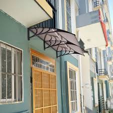 Outdoor Window Awnings And Canopies Costway 80 U0027 U0027x 40 U0027 U0027 Window Awning Door Canopy Outdoor Polycarbonate
