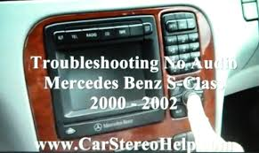 mercedes benz s class bose no audio 2000 2002 navigation screen