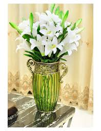 Cheap Glass Vase Large Living Room Lucky Bamboo Lily Flower Arrangement Wrought