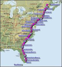 usa east coast map east coast i 95 map definitely want to go to nursing i