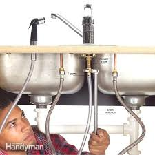 replace kitchen sink faucet replacing kitchen sink faucet how to fix a leaking sink sprayer tool