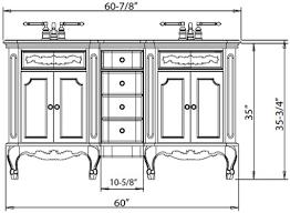 Bathroom Vanity Plumbing Rough In Dimensions Height Bathroom Vanities A Shift To The New Standard