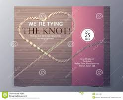 wedding invitations the knot tie the knot concept wedding invitation card vector template stock