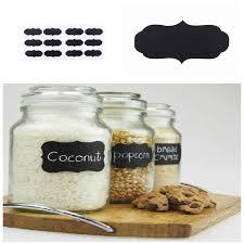 blackboard sticker craft kitchen jar organizer labels chalkboard