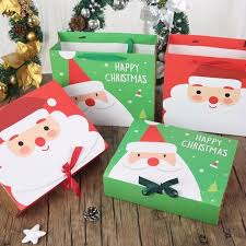 christmas gift bag 1pc paper gift bag santa claus snowman printed candy