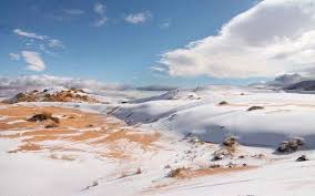 sahara snowfall snow covers the sahara desert for the second time in less than a