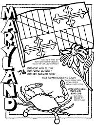 maryland state flag coloring page many interesting cliparts