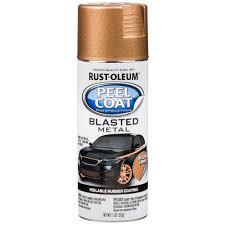 rust oleum automotive 11 oz peel coat blasted metal copper spray